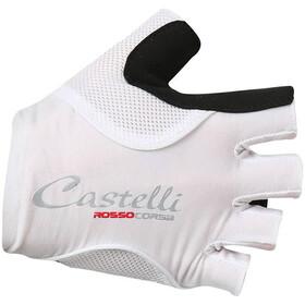Castelli Rosso Corsa Pave Cykelhandsker Damer, white/black